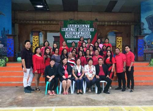 Barangay Health workers Orientation and Training and Christmas Program with Mayor Celia T. Layus, MD.